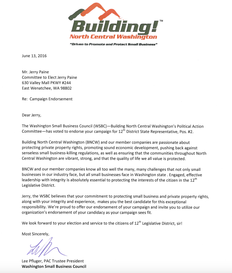 Building NCW Endorsement Letters